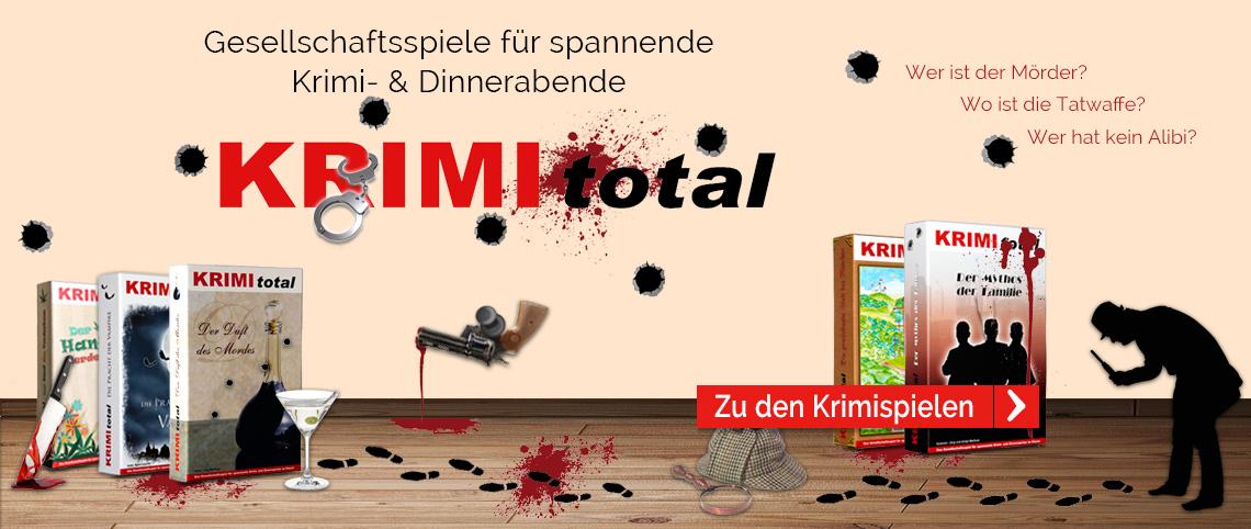 KRIMI total Gesellschaftsspiele für spannende Krimi- und Dinnerpartys