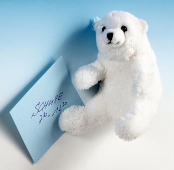 Schaffer Plüsch Magnet Polarbär EISY weiß