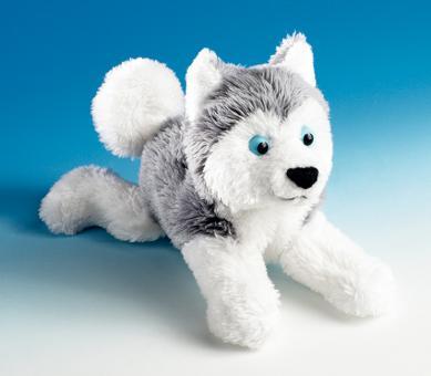Schaffer Plüsch Magnet Schlittenhund HUSKY weißgrau