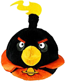 ANGRY BIRDS SPACE Plüsch Figur Vogel BLACK BIRD schwarz | 15 cm