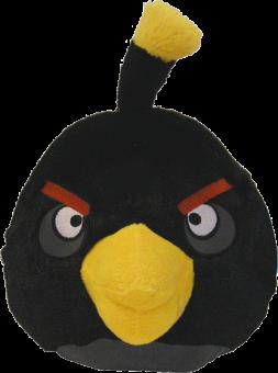 ANGRY BIRDS Plüsch Figur Vogel BOMB schwarz | 20 cm
