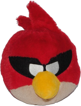 ANGRY BIRDS SPACE Plüsch Figur Vogel RED BIRD rot | 15 cm