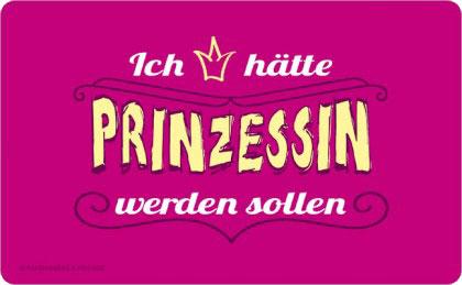 FRÜHSTÜCKSBRETTCHEN ✩ Prinzessin wäre schön ☆ pink | 23,5 x 14,3 cm