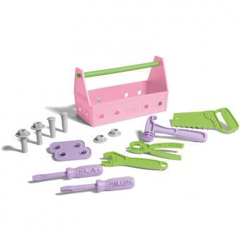 Greentoys Spielzeug WERKZEUG-SET pink | 23 cm