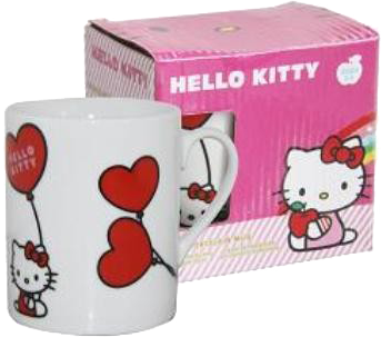 HELLO KITTY Kindertasse - Keramik-Becher mit Motiv