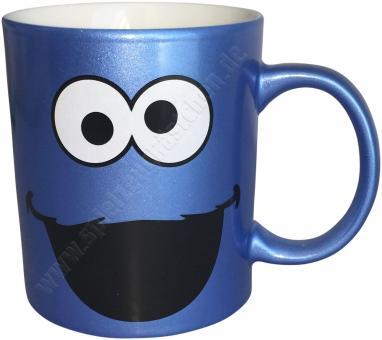 SESAMSTRASSE Kaffeetasse KRÜMELMONSTER blau