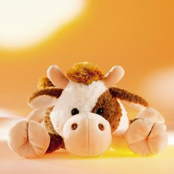 Schaffer Plüschtier Kuh SELMA liegend braunweiß 35 cm