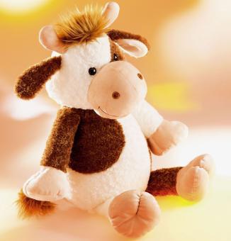 Schaffer Plüschtier Kuh SELMA sitzend braunweiß