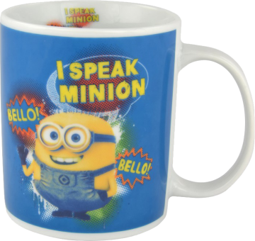"MINIONS Keramik-Tasse ""Trinkbecher I SPEAK MINION"" blau 