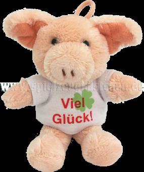 Schaffer Plüschtier Mini Glücksbringer GLÜCKSSCHWEIN rosa | 10 cm