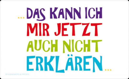 FRÜHSTÜCKSBRETTCHEN ✩ Nicht erklären ✩ weiß | 23,5 x 14,3 cm