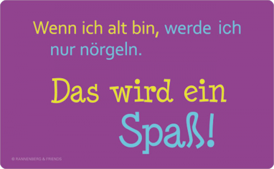 FRÜHSTÜCKSBRETTCHEN ✩ Wenn ich alt bin ✩ lila | 23,5 x 14,3 cm
