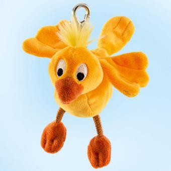 Schaffer Plüsch Schlüsselanhänger Vogel CHIPPY gelb