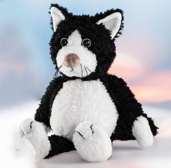 Schaffer Plüschtier Katze BLACKY schwarzweiß
