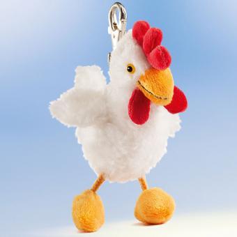 Schaffer Plüsch Schlüsselanhänger Huhn BRUNHILDE weiß