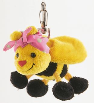 Schaffer Plüsch Schlüsselanhänger Biene BINE gelbschwarz