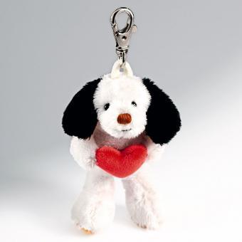 Schaffer Plüsch Schlüsselanhänger Hund WUMPI mit Herz