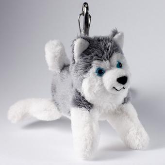 Schaffer Plüsch Schlüsselanhänger Schlittenhund HUSKY grauweiß