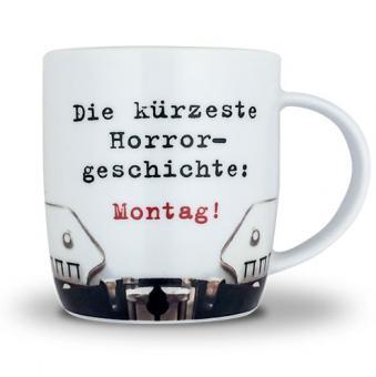 Sticky Jam KAFFEETASSE ✶ Horror Montag ✶ weiß | 9 cm