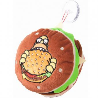 THE SIMPSONS 3D-Kuschelkissen HAMBURGER braun | 18 cm