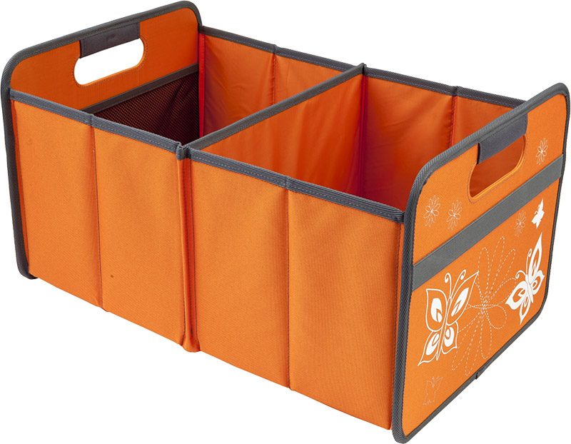 aufbewahrungsbox mit schmetterlingsmuster orange 32 x 27 5 x 50 cm spielzeugk. Black Bedroom Furniture Sets. Home Design Ideas